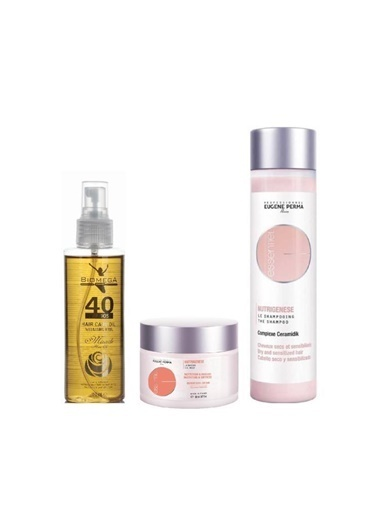 Eugene Perma Eugene Perma Essentiel Nutrigenese Şampuan 250 Ml+Maske 150 Ml+Biomega 40 Bitkili Doğal Saç Bakım Yağı 150 Ml Renksiz